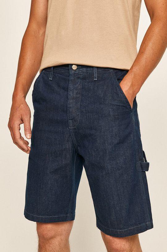 stalowy niebieski Lee - Szorty jeansowe Męski