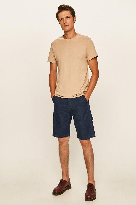 Lee - Szorty jeansowe stalowy niebieski