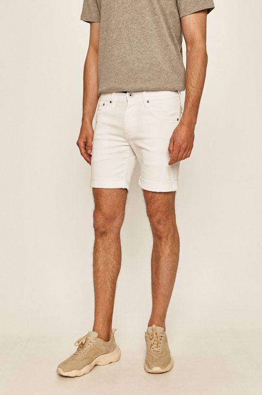 biały Pepe Jeans - Szorty jeansowe Cane Short Pride Męski