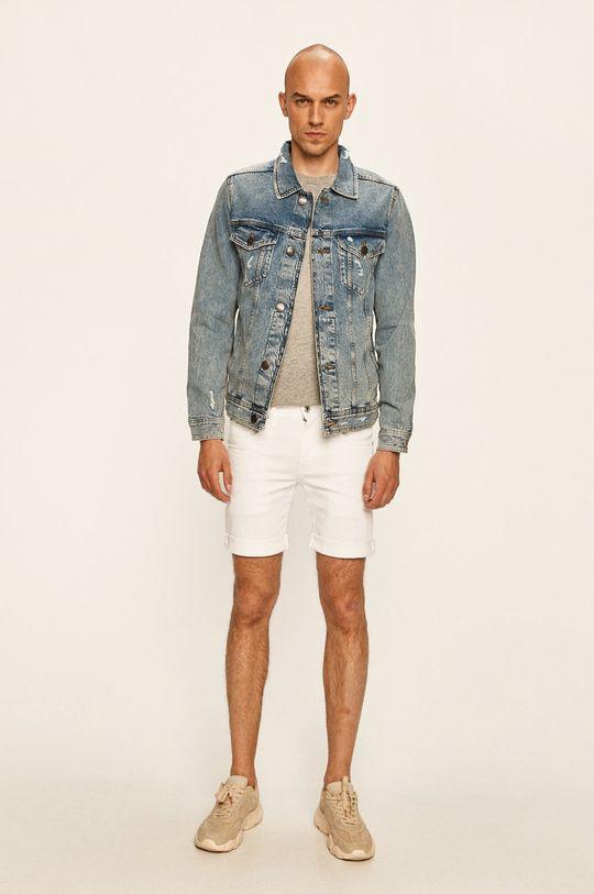 Pepe Jeans - Szorty jeansowe Cane Short Pride biały