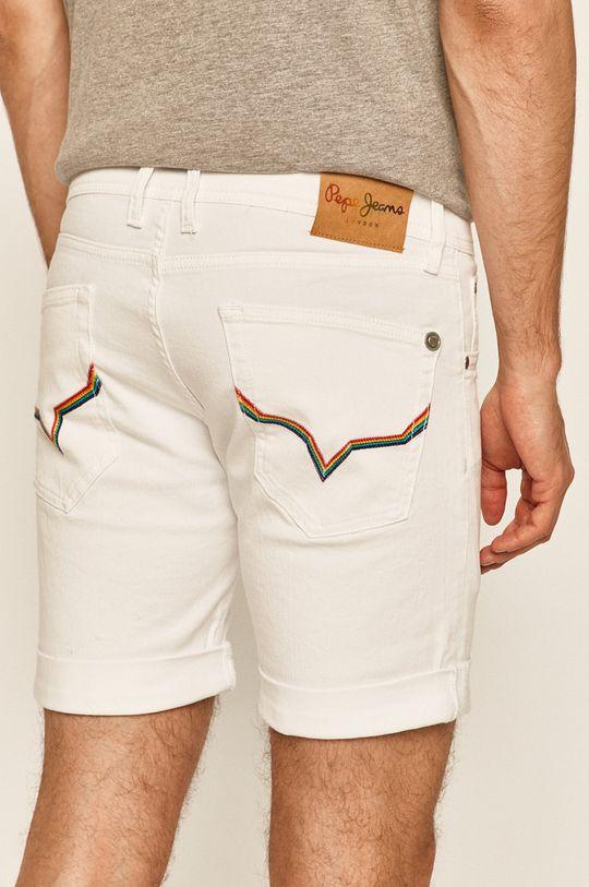 Pepe Jeans - Szorty jeansowe Cane Short Pride 99 % Bawełna, 1 % Elastan