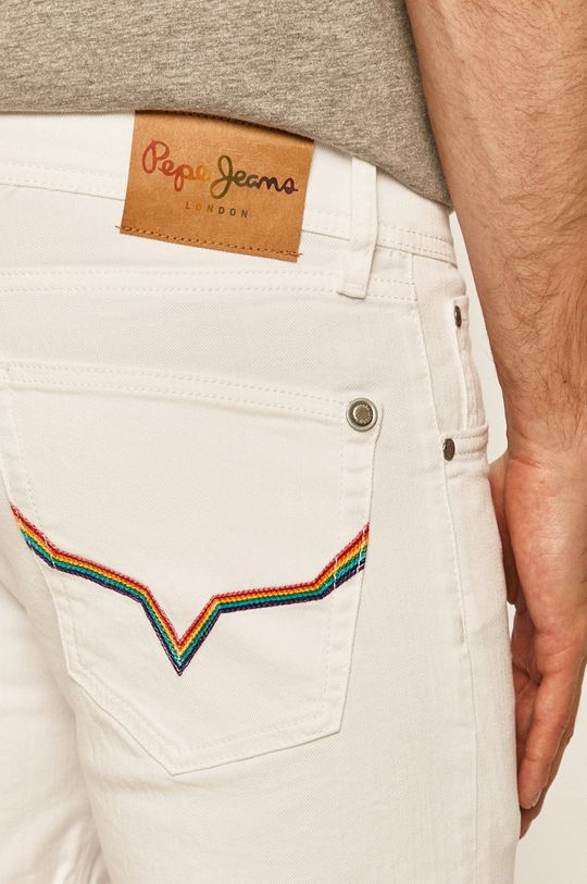 biały Pepe Jeans - Szorty jeansowe Cane Short Pride