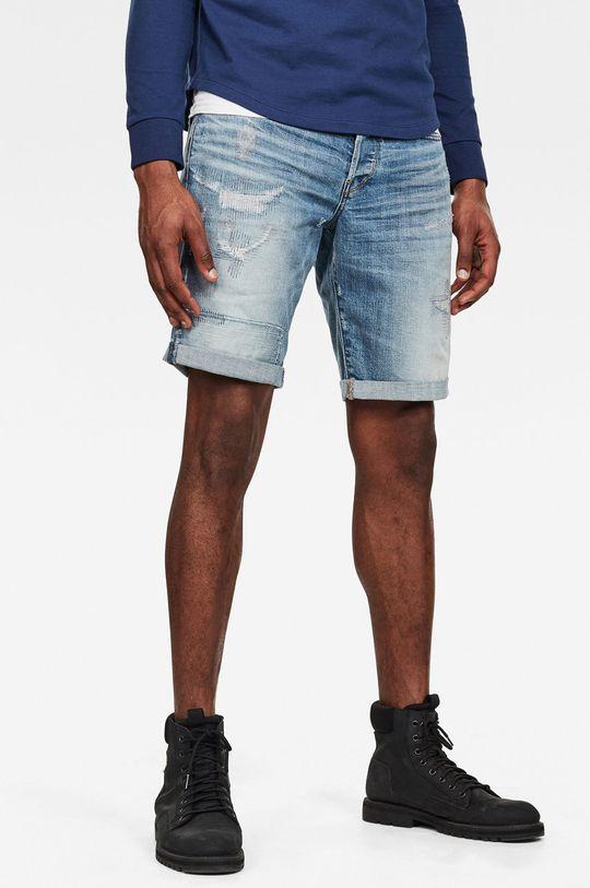 modrá G-Star Raw - Džínové šortky Pánský