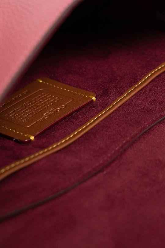 růžová Coach - Kožená kabelka