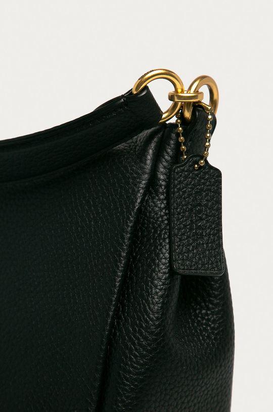 Coach - Kožená kabelka čierna