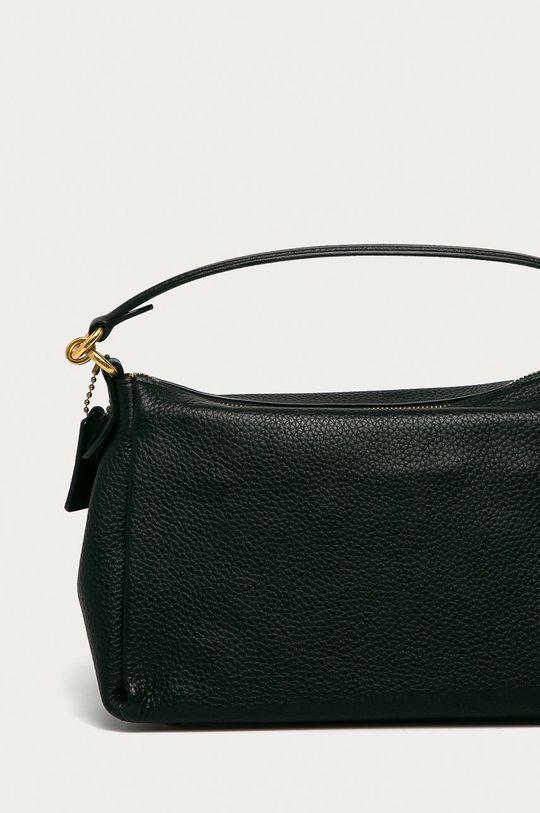 čierna Coach - Kožená kabelka