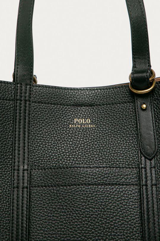 Polo Ralph Lauren - Bőr táska fekete