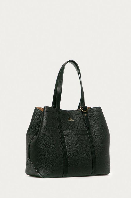 fekete Polo Ralph Lauren - Bőr táska