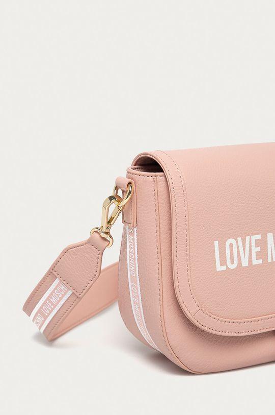 Love Moschino - Poseta de piele roz pastelat