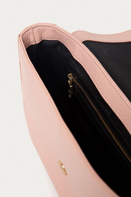 roz pastelat Love Moschino - Poseta de piele