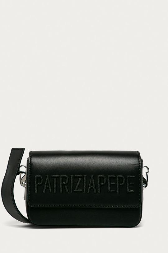 černá Patrizia Pepe - Kožená kabelka Dámský