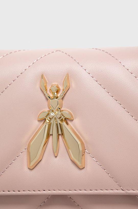 ružová Patrizia Pepe - Kožená kabelka
