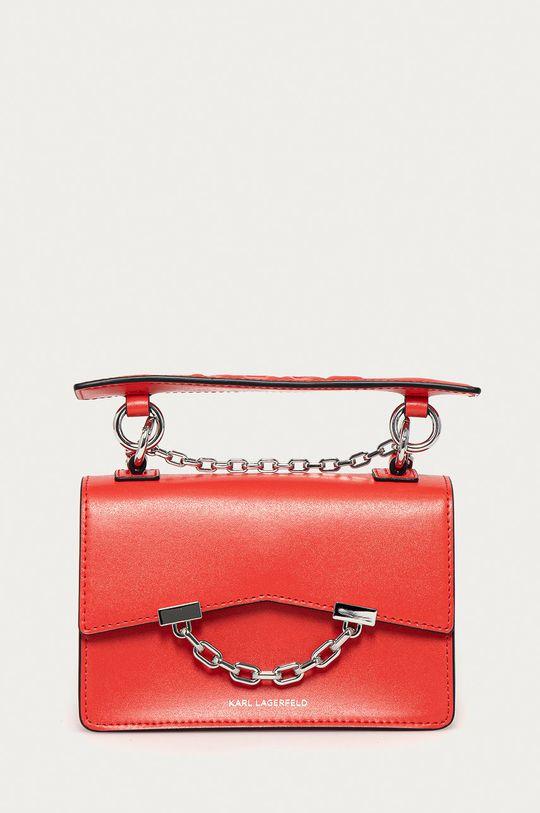 červená Karl Lagerfeld - Kožená kabelka Dámsky