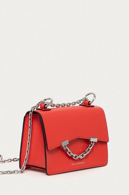 Karl Lagerfeld - Kožená kabelka červená
