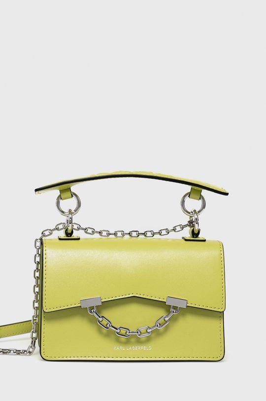 żółto - zielony Karl Lagerfeld - Torebka skórzana Damski