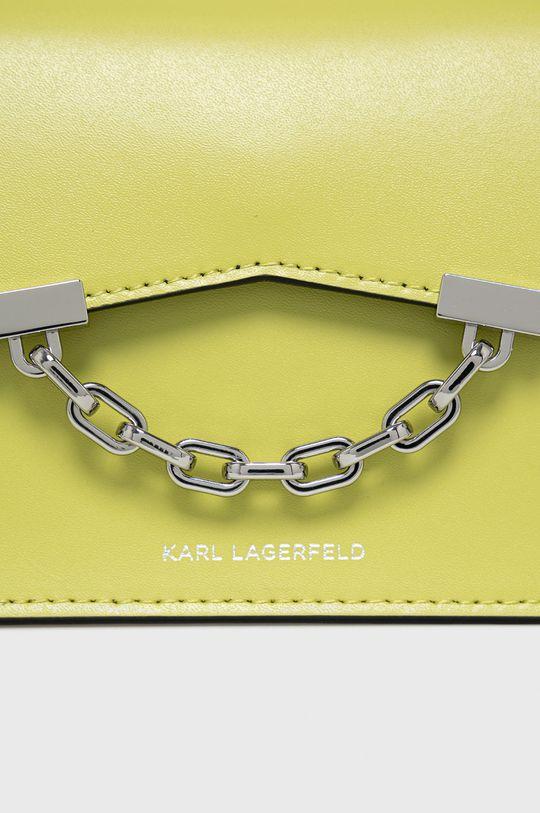 żółto - zielony Karl Lagerfeld - Torebka skórzana