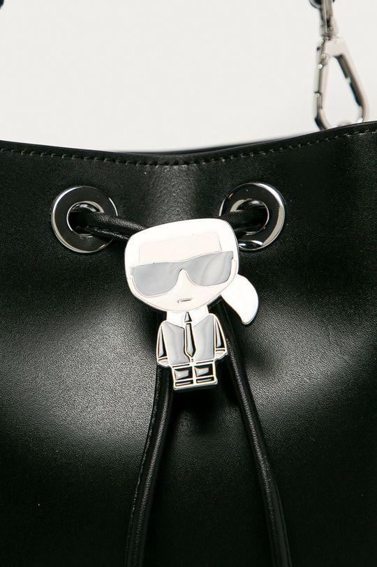 Karl Lagerfeld - Kožená kabelka čierna