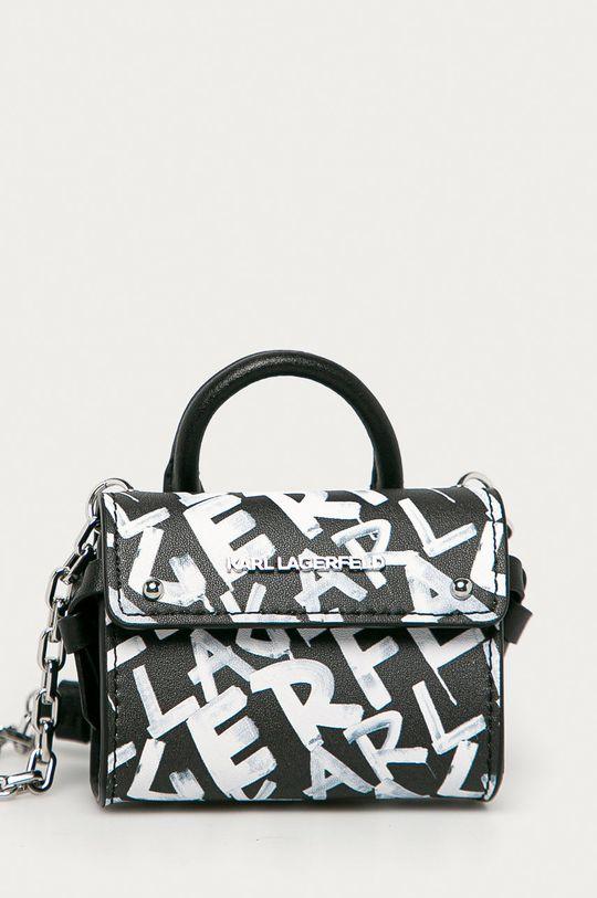 černá Karl Lagerfeld - Kožená kabelka Dámský