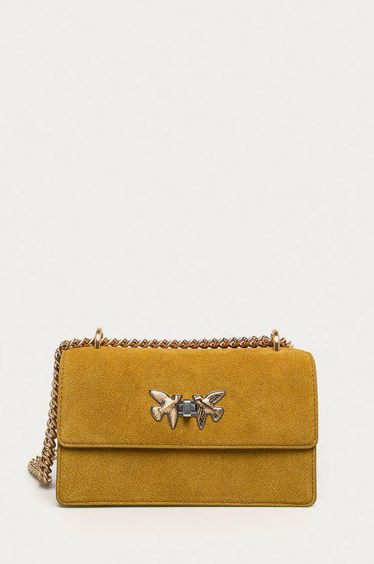 žltá Pinko - Semišová kabelka Dámsky