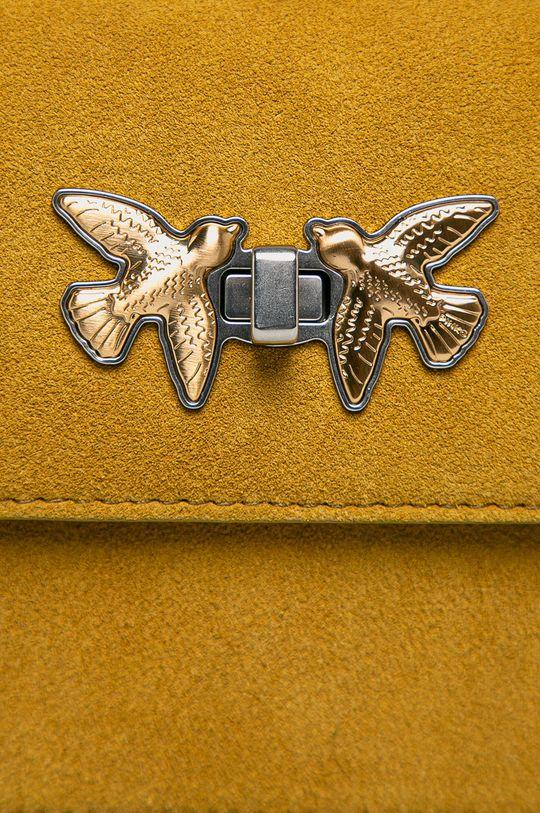 Pinko - Semišová kabelka žltá