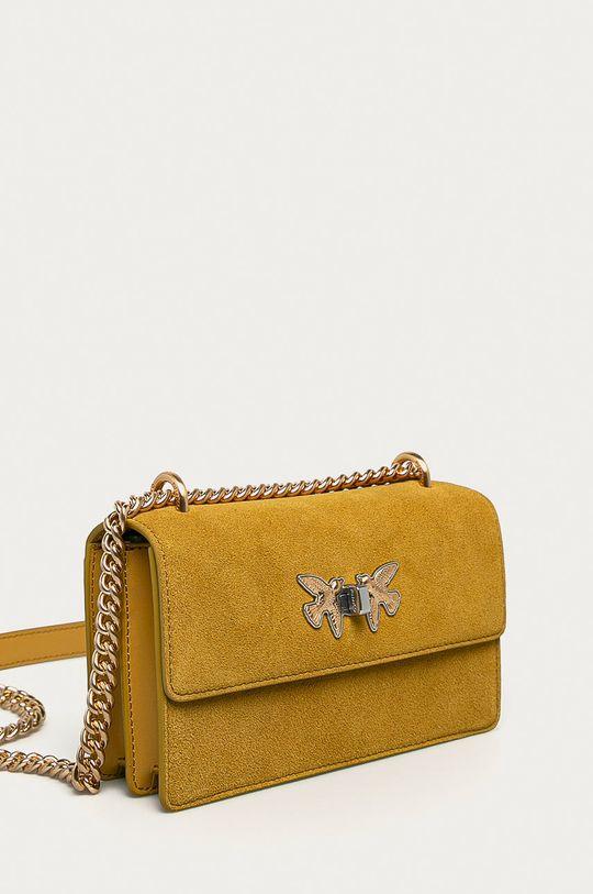 Pinko - Semišová kabelka  100% Semišová koža
