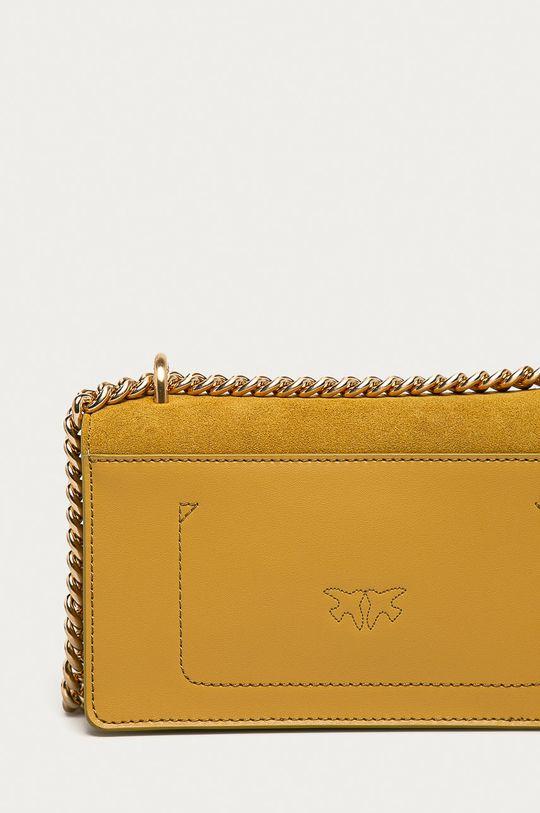 žltá Pinko - Semišová kabelka
