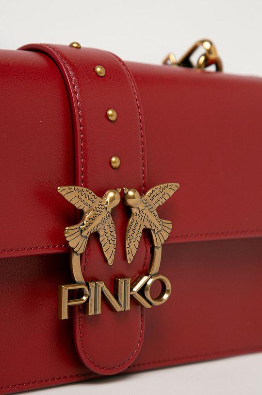 Pinko - Torebka skórzana kasztanowy