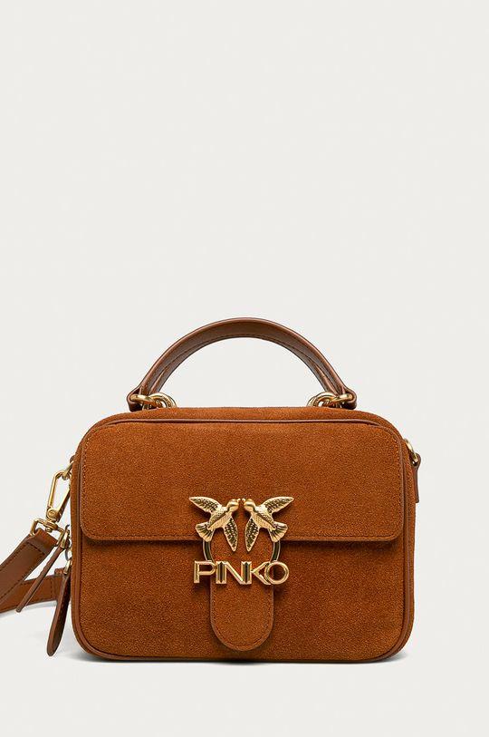 hnedá Pinko - Kožená kabelka Dámsky