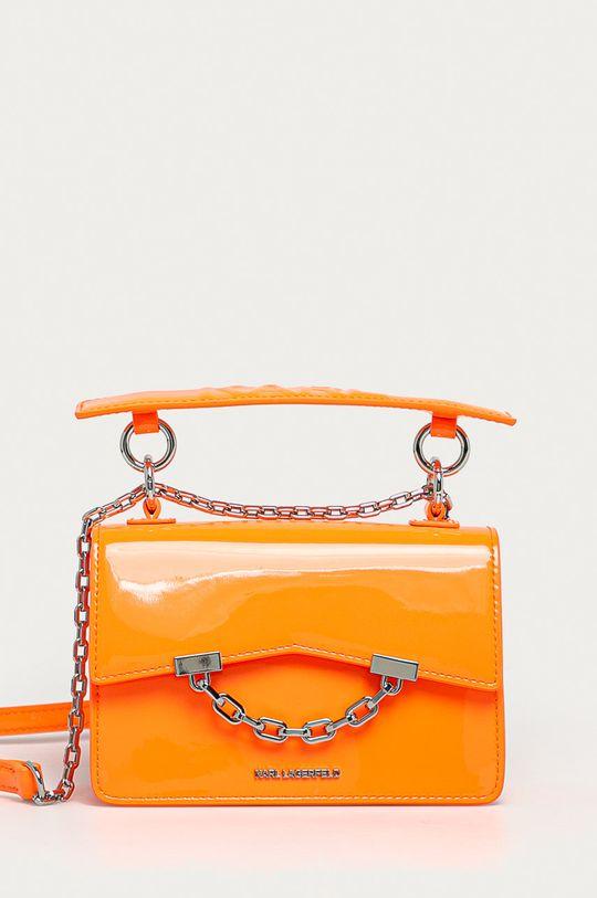 oranžová Karl Lagerfeld - Kožená kabelka Dámsky