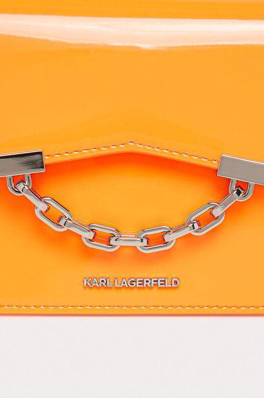 Karl Lagerfeld - Kožená kabelka oranžová