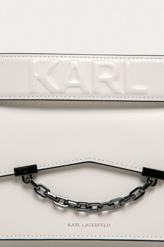 Karl Lagerfeld - Poseta de piele alb