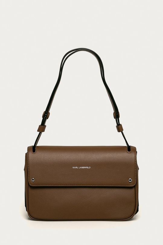 hnedá Karl Lagerfeld - Kožená kabelka Dámsky