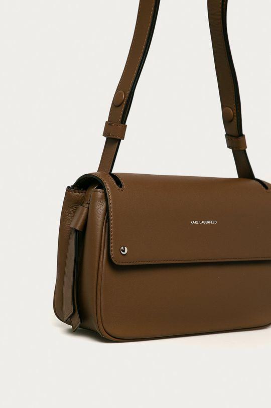 Karl Lagerfeld - Kožená kabelka hnedá