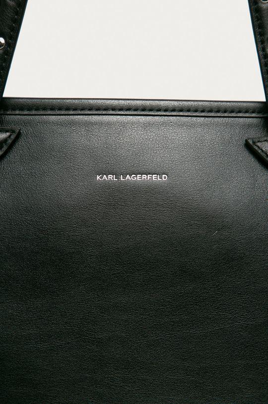 Karl Lagerfeld - Poseta de piele negru