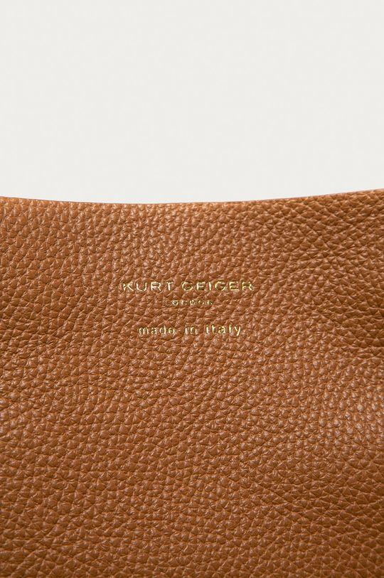 Kurt Geiger London - Torebka skórzana złoty brąz