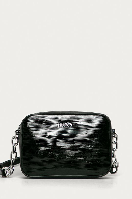 černá Hugo - Kožená kabelka Dámský