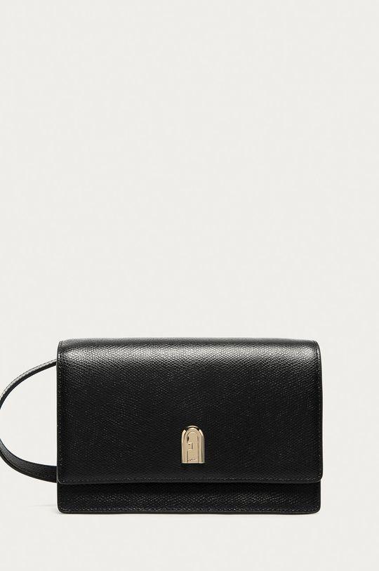 černá Furla - Kožená kabelka 1927 Dámský