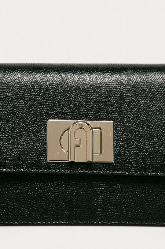 černá Furla - Kožená kabelka Bafkaco