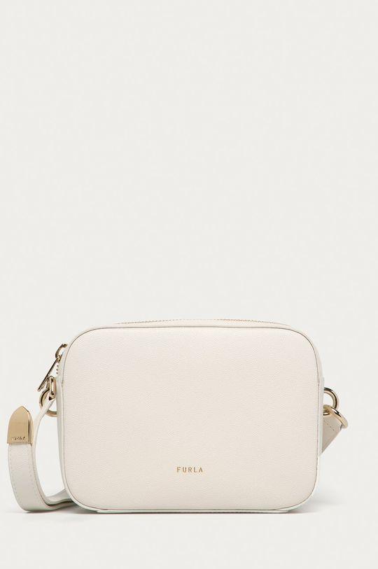 biela Furla - Kožená kabelka Block Dámsky