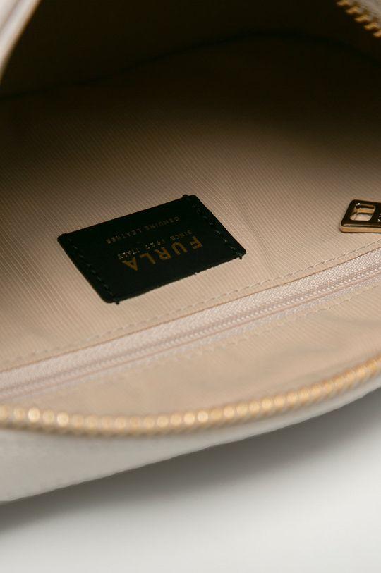 biela Furla - Kožená kabelka Block
