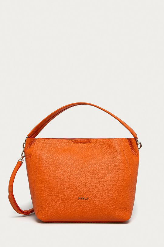portocaliu Furla - Poseta de piele Grace De femei