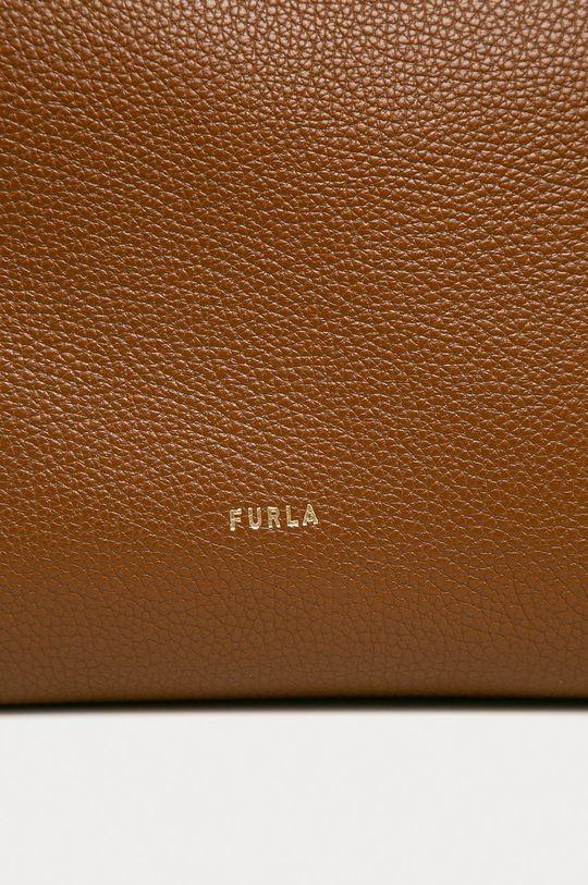 Furla - Torebka skórzana Net brązowy