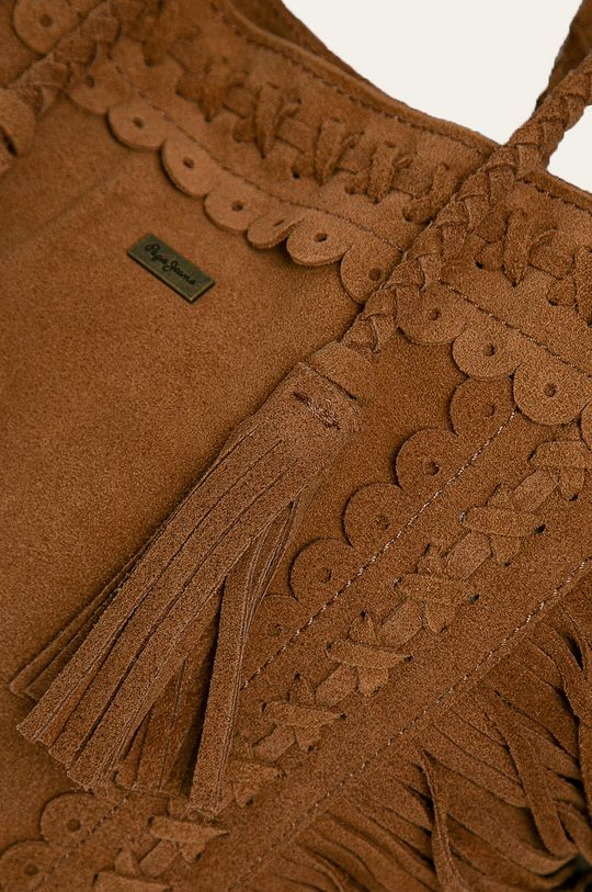 Pepe Jeans - Kožená kabelka Dianne  Podšívka: 100% Bavlna Hlavní materiál: 100% Semišová kůže
