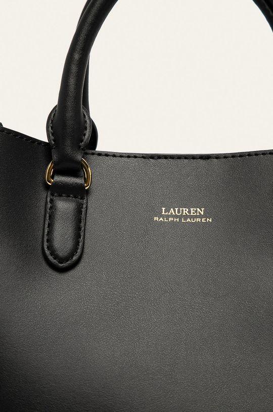 Lauren Ralph Lauren - Torebka skórzana czarny