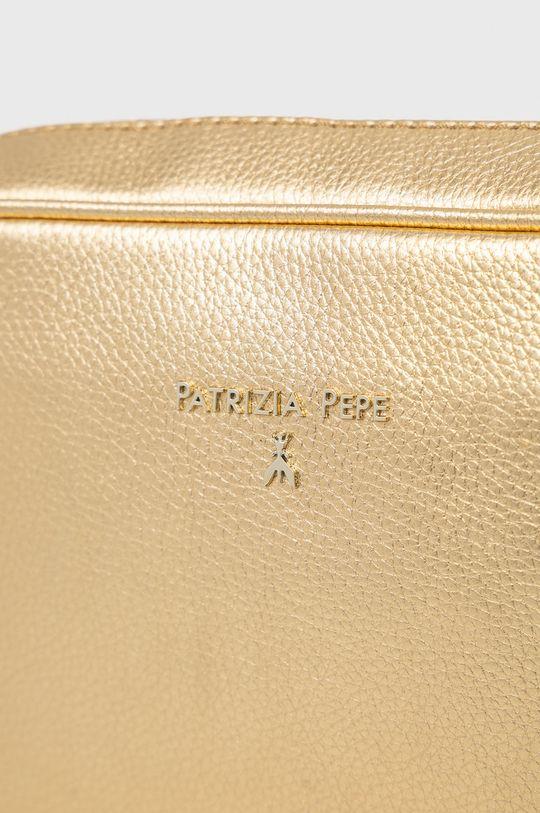 zlatá Patrizia Pepe - Kožená kabelka