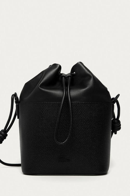 čierna Lacoste - Kožená kabelka Dámsky