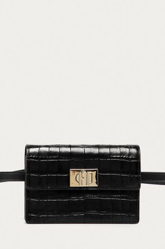 čierna Furla - Kožená kabelka 1927 Dámsky