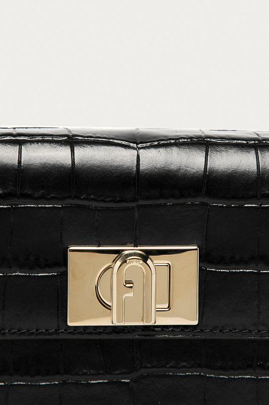Furla - Kožená kabelka 1927 čierna