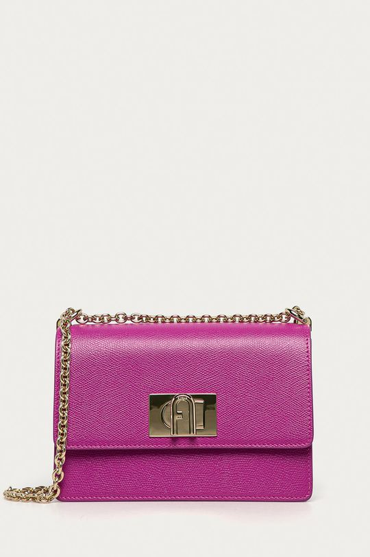 purpurová Furla - Kožená kabelka 1927 Dámský