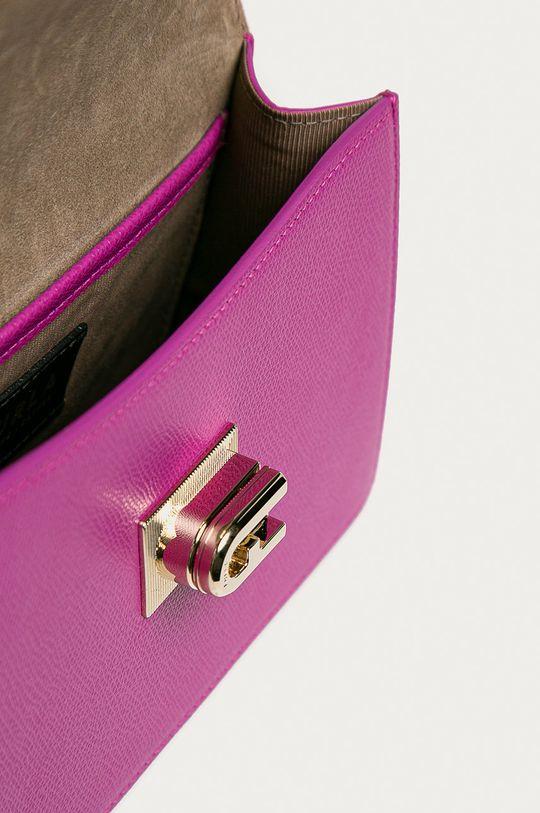 purpurová Furla - Kožená kabelka 1927